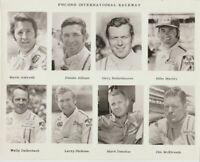 Vintage 1970's Pocono Indy Car Drivers 8x10 Press Photo ANDRETTI DONOHUE ALLISON