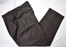 JB Britches Solid Brown 100% Worsted Wool Dress Pleat Trousers Size: 37x31