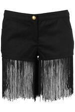 BN TOPSHOP  BLACK finger  Hotpants Shorts by RARE UK 8