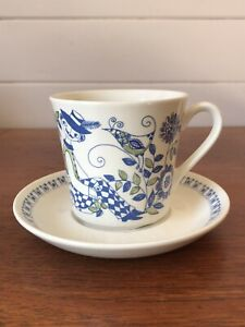 Vintage Figgjo Norway Lotte Turi Design Tea/Coffee Larger Cup and Saucer Norway
