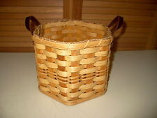 Genuine AMISH 'SnowFlake' BASKET Riveted LEATHER Handles by ZOOK in Lancaster PA