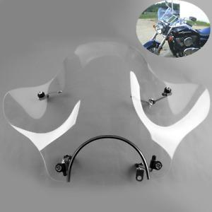 Windscreen Windshields For Honda Suzuki Yamaha Kawasaki VTR XV V-STAR Cruiser
