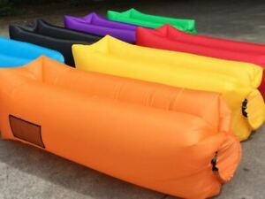 Outdoor Lazy Inflatable Sofa Air Bed Lounger Sack Hangout Camping Beach Bag