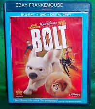 RARE OOP RETIRED DISNEY BOLT 3 DISC BLU RAY & DVD & DIGITAL ANIMATED MOVIE 2008
