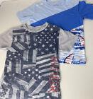 Tommy Hilfiger Boys Tshirts Lot Of 2 Spellout Logo Patriotic Nautical USA Sz 5/6
