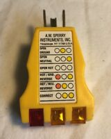 A.W Sperry Instruments CA-300A 3 Wire Circuit Yellow Analyzer