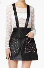 Guess Rona Suspender Leather Skirt Size 4