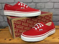 VANS LADIES UK 4.5 EU 37 OFF THE WALL AUTHENTIC CRIMSON RED CANVAS TRAINERS  EP