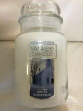 Yankee Candle White Christmas Large Jar 22oz  Free Ship NEW