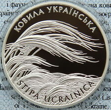 Ukraine 10 UAH 2010 PROOF 1 OZ Silver COA Stipa Ucrainica (Kovyla)