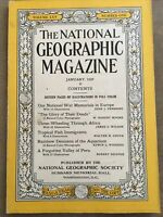 National Geographic JANUARY 1934  National War Deeds Africa Tropical Fish Peru