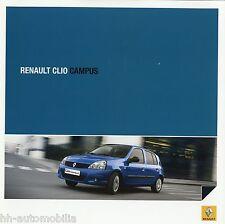 Prospekt Renault Clio Campus 5 09 auto folleto 2009 auto turismos brochure brosjyre