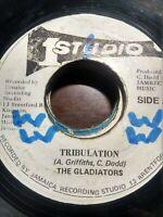 "The Gladiators-Tribulation 7"" Vinyl Single STUDIO 1 REGGAE"