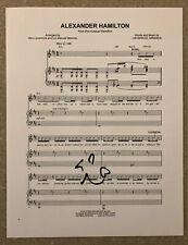 """Lin-Manuel Miranda Signed """"Alexander Hamilton""""  Sheet Music Hamilton Broadway"""