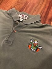 VTG 90's UNIVERSITY OF OREGON DUCKS Polo Shirt SZ XXL Green Nice