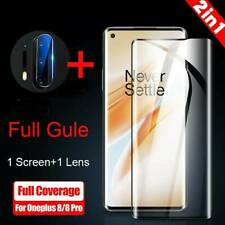 9H Full Cover 3D Curved Tempered Glass Screen Protector Kit For OnePlus 8/ 8 Pro