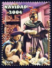 PERU 1976 ** WEIHNACHTEN Weihnachtskrippe der Indios Kunsthandwerk CHRISTMAS