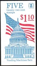 New listing Us #Bk144 22c Booklet of 5 1985 Flag Over Capitol Dome Mnh