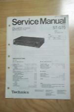 technics service manual für die st-g70 tuner
