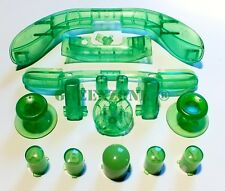 Clear Green Xbox 360 Replacement Controller Buttons inc ABXY, Thumbs, Triggers