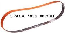 Norton SG Blaze Plus-1x30-80 Grit Ceramic Belts 3 Pk - Long Lasting Brand New!