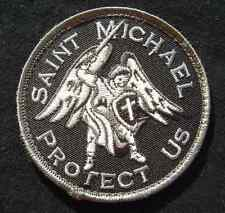 SAINT MICHAEL PROTECT USA ARMY MILITARY BADGE SWAT VELCRO® BRAND FASTENER PATCH