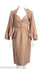 ALEXANDER McQUEEN F/W 2007 SILK DRESS WITH BOLERO DRESS UK 12 US 10 IT 44 BNWT