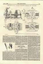 1895 DE Laval Motore A Turbina A VAPORE E DINAMO staccabile timoni