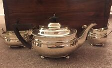 English Sterling Silver Three Piece Tea Set