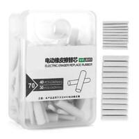 70 Pcs Automatic Rotary Gummi Refills Elektrische Radiergummi R Schulbedarf V2B8