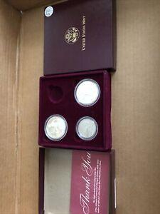 1996 US Mint 4 Coin Proof Set Atlanta Olympic Games Gold & Silver w/ Cauldron