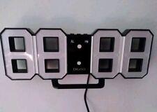 Orologio da parete o da mobile digitale a led bianco e nero con funzione sveglia