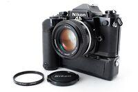 【N MINT】 Nikon FE2 35mm SLR Camera Black+Ai Nikkor 50mm f/1.4 lens+MD-12 Japan