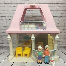 Vintage Little Tikes Grandma's House Pink Roof Dollhouse Gandparent's Cottage