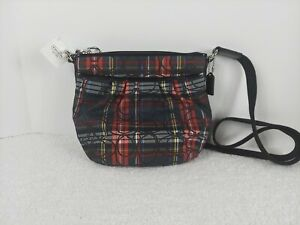 Coach Tartan Plaid Crossbody Shoulder Bag/Purse NWT