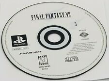 DISC #3: Final Fantasy VII (Sony PlayStation, 1997) PS1 BLACK LABEL REPLACEMENT