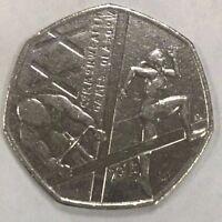 2014 UK 50p Commemorative Pence Coin Scottish Commonwealth Games Glasgow