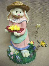 Nib Cottontale Collection Gardening Easter Bunny Straw Hat Butterfly Bumblebee