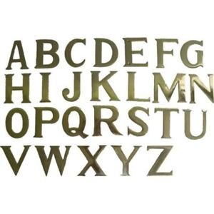 """New 3"""" / 76mm Solid Brass Self Adhesive Letters and Numbers for House signs"""