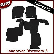 Landrover Discovery 3 Tailored Fitted Carpet Car Mats GREY 2 Clip