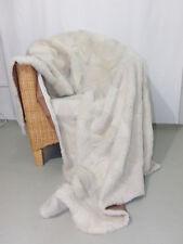 Fácil Manta de piel auténtica verdadera colcha Cordero blanco natural NUEVO