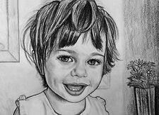 Ritratto su commissione da foto matita su cartoncino bambini coppie sposi regalo