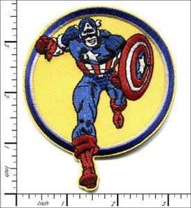 """Captain America embroidered iron on patch 3.5"""""""