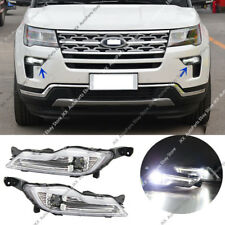 Set Driving Lights LED Fog Lamps j Fit For Ford Explorer 18-19 / Fusion 2017-18