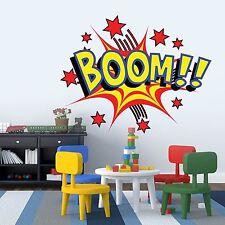 Libro de historietas Boom Chicos Niños Dormitorio Niños Habitación Pared Adhesivo Mural De Vinilo