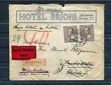 Österreich Mi.-Nr. 146 als waagerechtes Paar auf Eilboten-Express-Brief - b1304
