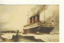 .Y 256 EARLY POSTCARD OF SS BERENGARIA,1928