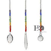 3 Set Hanging Rainbow Suncatcher Crystal Chakra Beads Prisms Window Home Decor