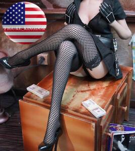 """1/6 Scale Black Fishnet Stockings For 12"""" PHICEN Hot Toys Female Figure Doll"""