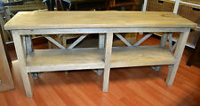 TV entertainment unit rustic mango fruit wood  french provincial style  shelf